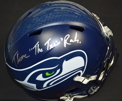 Thomas Rawls Seahawks Signed Full Size Replica Helmet w/