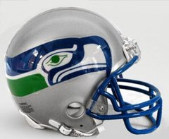 Seattle Seahawks Retro Mini Helmet 1976 - 2001 Unsigned