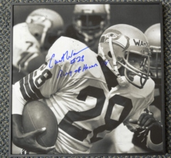 Curt Warner Seahawks Autographed Vuezz Frame with Inscription