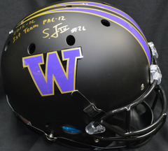 Sidney Jones Autographed Full Sized Replica Helmet UW Huskies Matte Black w/inscription