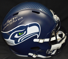 Malik McDowell Signed Seahawks Full Size Football Helmet w/Inscription