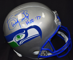 Kenny Easley Seahawks Autographed Retro Full Size Helmet w/ HOF '17 Inscription JSA