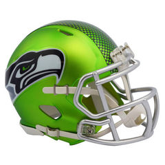 Seattle Seahawks Blaze Green Ltd Edition Mini Helmet Unsigned