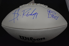 Sheldon Richardson Signed White Panel Football DPOY Insc. JSA Certified