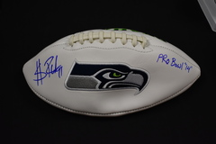 Sheldon Richardson Signed White Panel w/Seahawks Logo Football JSA Certified
