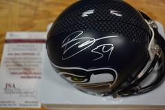 Bobby Wagner Seahawks Autographed  Mini Helmet JSA