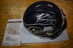 Bobby Wagner Seahawks Autographed Speed Mini Helmet JSA