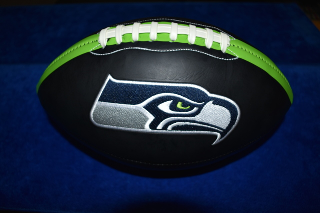 New! Black Football w/Seahawks Logo Unsigned * NWSC Exclusive