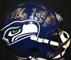 Sheldon Richardson Signed Seahawks Full Size Replica Helmet w/3 Inscriptions