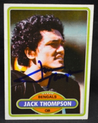 Jack Thompson Autographed 1980 Rookie Card