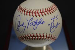 Andy Pafko Signed Autographed Baseball With Schwartz Sports COA BB 333