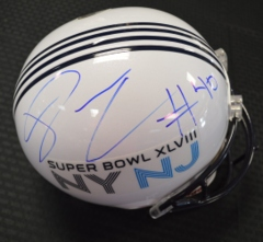 Derrick Coleman Seahawks Autographed Full Sized Super Bowl 48 Helmet