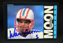 Warren Moon Signed 1985 Topps Rookie Card