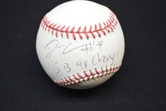 Derrick Coleman Autographed MLB Baseball with Inscription