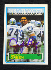 Jacob Green Signed 1983 Seahawks Topps Card
