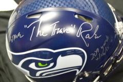 Thomas Rawls Seahawks Signed Authentic Revolution Speed Helmet w/ 209 YD 11/22/15 w/JSA Certification