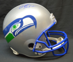 Cortez Kennedy Seahawks Signed Full Size Helmet w/ HOF Inscription