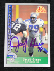 Jacob Green Signed 1990 Seahawks Oroweat Card