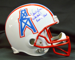 Warren Moon Signed Full Size Oilers Helmet w/ Run n' Shoot and 9x Pro Bowl Inscriptions