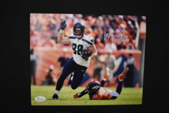 Will Dissly Signed Seahawks 8x10 Photo #2 JSA