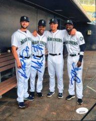 Mariners Signed Haniger, Smith, Gordon 8x10 Photo