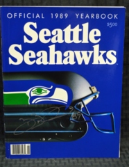 Brian Blades Seattle Seahawks Signed 1989 Year Book