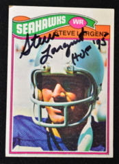 Steve Largent Signed 1977 Topps Rc w/ Inscription