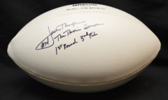 Jack Thompson Autographed White Panel Football w/ inscription