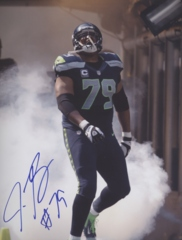 Red Bryant Seahawks Autographed 8x10 Photo #1