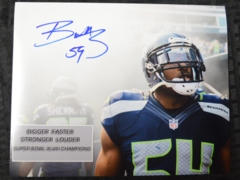 Bobby Wagner Seahawks Autographed 8x10 Photo H