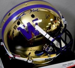 Myles Gaskin Signed UW Chrome Mirror Full Size Helmet w/ Go Dawgs Inscription JSA COA