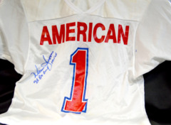 Warren Moon Signed Pro Bowl Jersey w/ HOF and 9x Pro Bowl Inscriptions