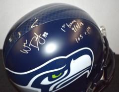 Will Dissly Signed Seahawks Full Size Helmet w/Inscriptions JSA