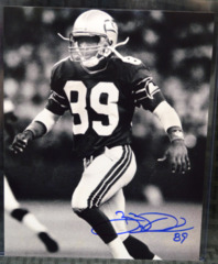 Brian Blades Seattle Seahawks Signed B&W 8x10 Photo #2