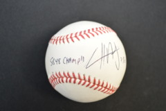 Cliff Avril Autographed MLB Baseball With Inscription