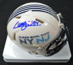 Cooper Helfet Seahawks Autographed SB48 Mini Helmet