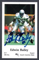 1986 Seahawks Police #1 Edwin Bailey Autograph