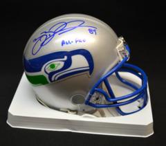 Brian Blades Seattle Seahawks Signed Mini Helmet w/ All Pro Inscription