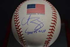 Curt Schilling Signed WS 1st Pitch Baseball With Steiner and MLB COAs BB 310