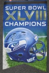 Derrick Coleman Autographed Seahawks Premium Quality SB XLVIII Champs Banner