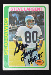 Steve Largent Signed 1978 Topps w/ Inscription