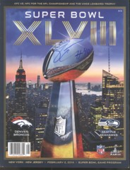 Derrick Coleman Seahawks Autographed Super Bowl Program