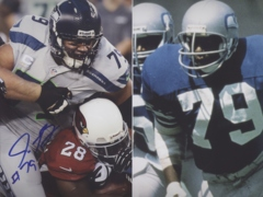Red Bryant Seahawks Autographed 8x10 Photo #2
