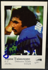 Manu Tuiasosopo Seattle Seahawks Signed 1980 Police Set Card
