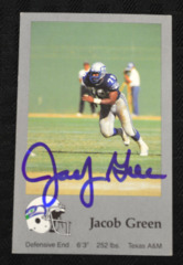 Jacob Green Signed 1988 Seahawks Police Card