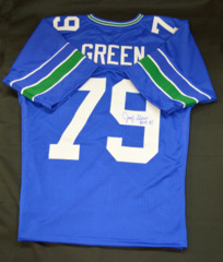 Jacob Green Signed Custom Retro Jersey w/ ROH Inscription