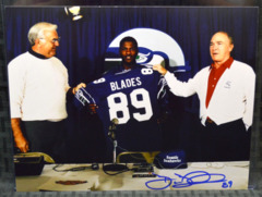 Brian Blades Signed 8x10 Color Photo #1