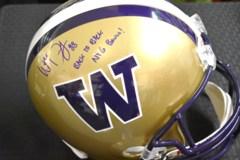 Will Dissly Signed Full Size UW Huskies Helmet w/Inscription JSA