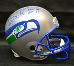 Kenny Easley Signed Seahawks Full Size Retro Football Helmet w/ DPOY '84 & ROH '02 Inscription JSA