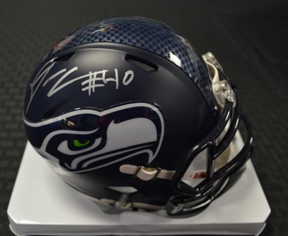 Derrick Coleman Seahawks Super Bowl 48 Autographed Mini Helmet